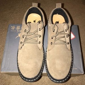 Other - Men's Leather Lace Up Casual Boots Shoes